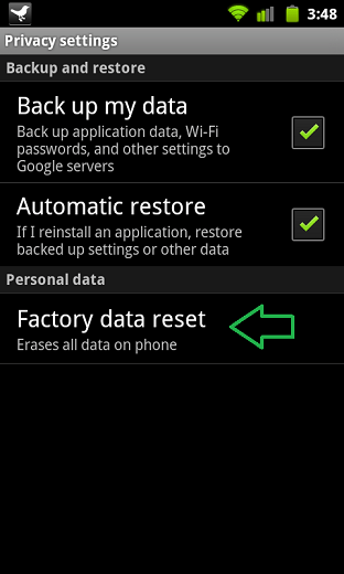 android factory reset3