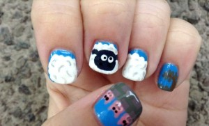 Nail-design-with-goats-and-sheep-5