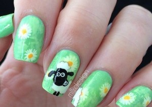 Nail-design-with-goats-and-sheep-7