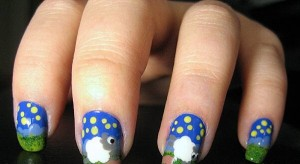 Nail-design-with-goats-and-sheep-8