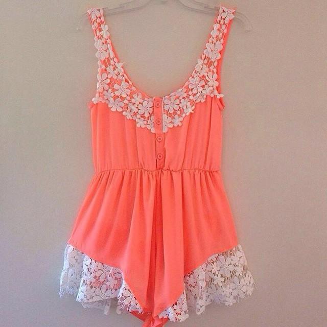 پیراهن کوتاه گلدار