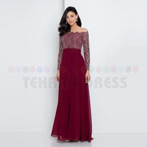 مدل لباس مجلسی دخترانه بلند ساده و شیک