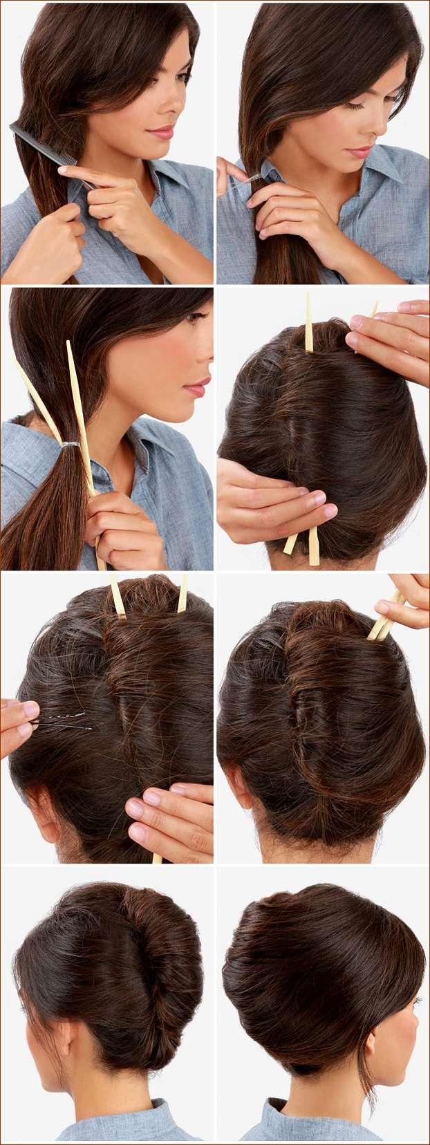 بستن مو به سبک فرانسوی