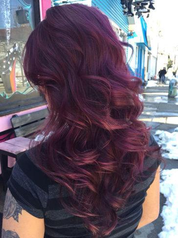 رنگ موی بادمجانی