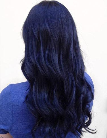 رنگ مو سرمه ای