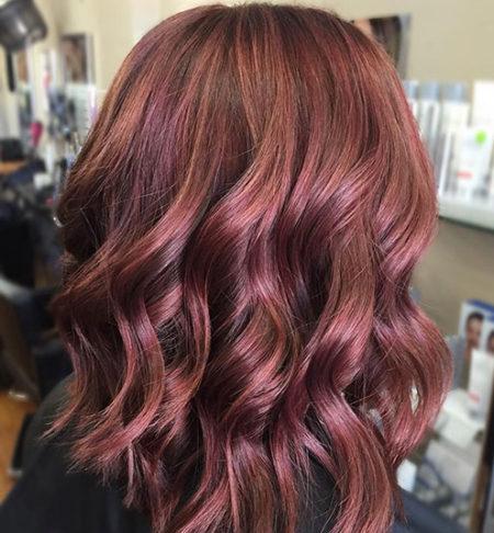 رنگ مو عنابی روشن
