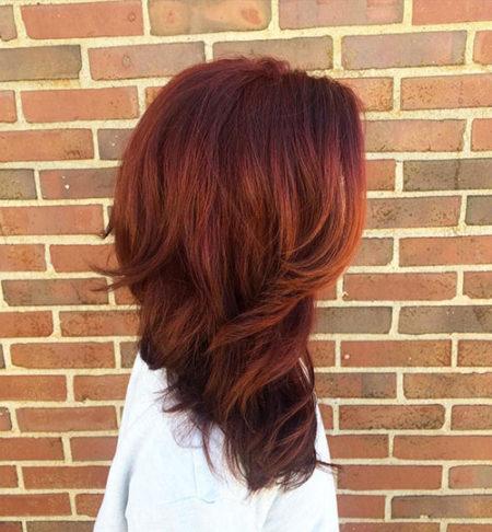 ترکیب رنگ موی عنابی شکلاتی