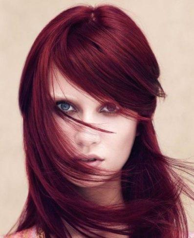 رنگ مو عنابی