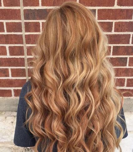 رنگ مو طلایی مسی