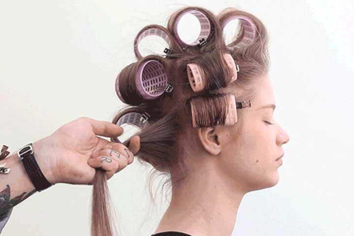 حالت دادن به موهای فر