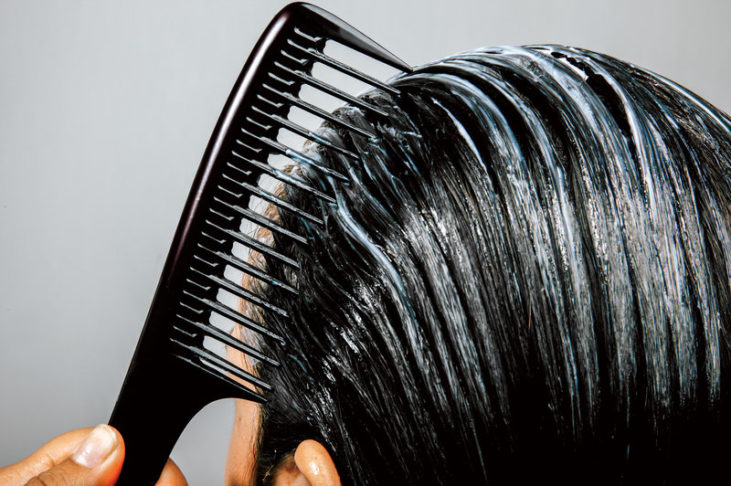 یکدست کردن رنگ مو