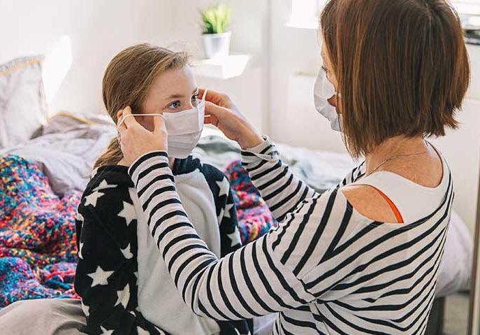 ماسک زدن برای پیشگیری از کرونا