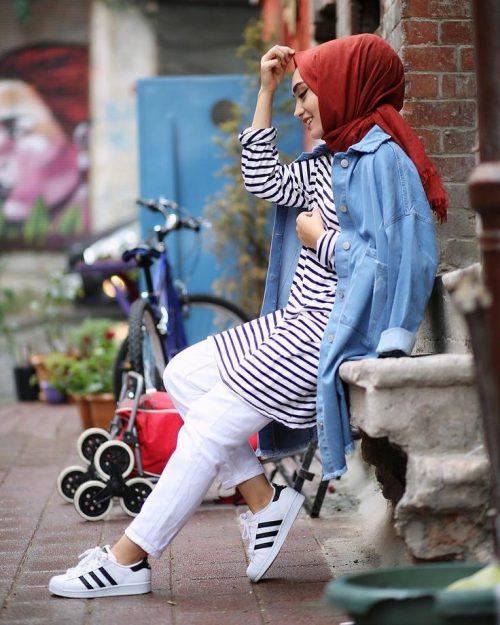 استایل شیک برای خانم های باحجاب