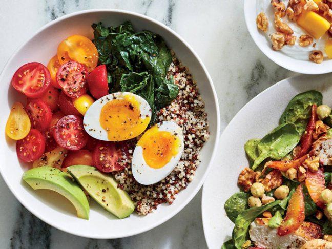 مصرف سبزیجات در وعده غذایی