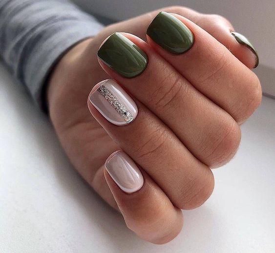 طرح ناخن سبز
